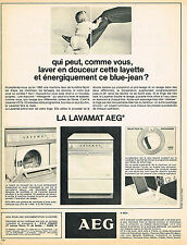 PUBLICITE ADVERTISING   1965  AEG   machine  à laver