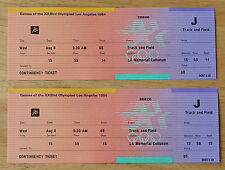 Two (2) 1984 Los Angeles Olympics tickets - Track and Field - UNUSED w/stubs