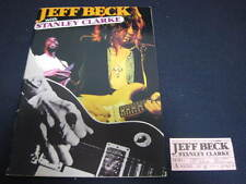 Jeff Beck with Stanley Clarke 1978 Japan Tour Book with Ticket Stub , Program