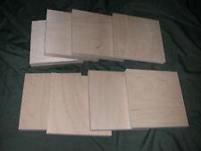 "8 Baltic Birch Plywood Woodcut Panels Wood  6"" X 6"""