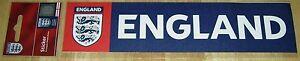 OFFICIAL ENGLAND FA badge FOOTBALL 3 LIONS INNER CAR WINDOW STICKER  BNIP euro's
