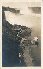 Niagara Falls NY * Maid of the Mist & Dock Area Aerial View RPPC 1920s