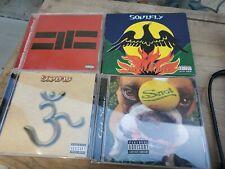 Soulfly CDs X 4 Snot/Inflikted/Primitive Digi Pak/3