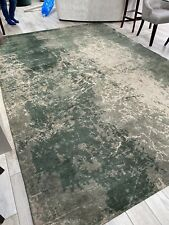 Modern Abstract MAD MEN CRACKS DARK PINE 8723 Green's Louis de Poortere Deco Rug