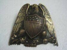 Antique bronze clip with a eagle and stars