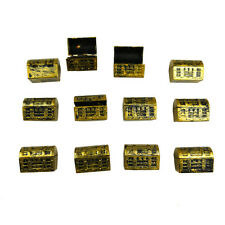 lemo 12 Pack Mini Pirate Gold Treasure Chests Party Favor Decoration