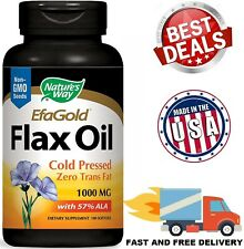 FLAXSEED OIL 1000 mg Omega 3-6-9 Organic Cold Pressed Supplement 100 Softgels