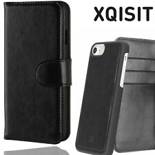 Xqisit iPhone 5 5S SE Eman Wallet Case Magnetic Leather Flip Book Cover Black