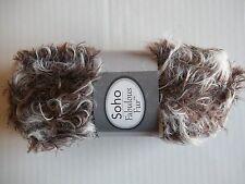 Herrschners Soho Fabulous Fur fuzzy eyelash yarn, Cappuccino, 1 skein (109 yds)