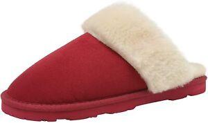 DREAM PAIRS Women Sheepskin Warm Fur Lined Slip on Comfortable House Slippers