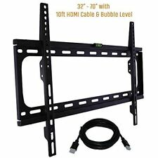 KORAMZI TV Wall Mount with Smart Locking System Technology&10 ft. HDMI Cable-New