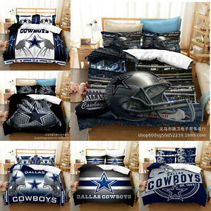 Dallas Cowboys Bedding Set 3PCS Duvet Cover Pillowcases Comforter Cover Gifts