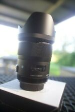 EXCELLENT Sigma Art 35mm F/1.4 DG HSM Lens for Canon with Sigma Dock + extras!