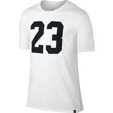 JORDAN Tri-Blend Iconic 23 T-Shirt sz XL X-Large White Black Retro Flight