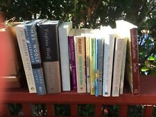 A lot of 14 books by and about Virginia Woolf.