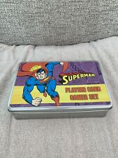 Rare Superman Collector's Playing Cards Tin DC Comics Collectible