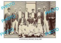 8x6 PHOTO OF OLD AUSTRALIAN CRICKET TEAM 1895