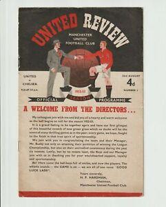 1952/3  Manchester United V Chelsea Rare Division One