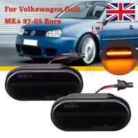 Smoked Lens LED Side Marker Indicator Light Repeater For VW Ford Golf MK4 Bora