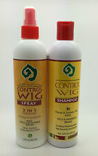 CONTROL WIG SPRAY AND WIG SHAMPOO FOR HUMAN & SYNTHETIC HAIR WIGS + Free P&P