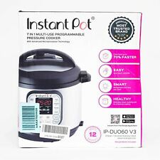 USE Instant Pot Duo 7 in 1 Electric Pressure Cooker with 14 One Touch Programs