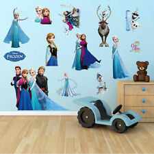 Frozen Disney Queen Elsa Olaf Childrens Nursery Stickers Decor Large Wall Multi