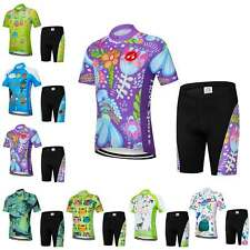 Kids Cycling Jersey and Shorts Set Children Cycle Clothing Short Sleeve Bike Kit