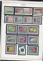 hungary issues of 1971 flowers & horse racing etc stamps page ref 18305