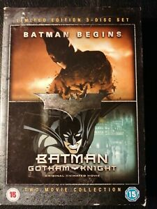 Batman 3 Disc DVD Boxset- (Batman Begins 2 Disc) Batman Gotham Knight...
