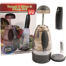 Touch 2 cortar y picar Set Apto para lavavajillas Fácil Uso Ensalada De Frutas Verduras Cebolla