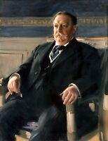 US President William Howard Taft Portrait Painting Large Real Canvas Art Print