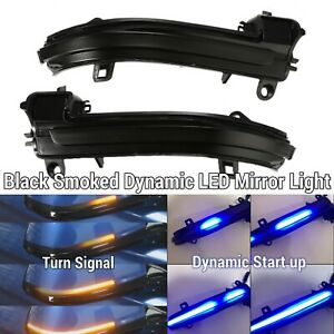 LED Dynamic Sequential Smoked Side Mirror Turn Signal For 14-20 F32 F33 F36 428i