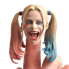 1/6 Female Joker Harley Quinn Head Carved Painted Head Model F 12'' HT Body CN