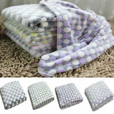 More details for large warm pet mat cat dog puppy coral fleece soft blanket throw bed cushion uk