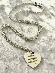 Sentimental silver love heart necklace On 18 inch chain