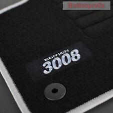 Mattenprofis Velours Logo Fußmatten passend für Peugeot 3008 ab Bj. 2016 si
