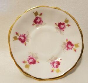 Poupée Miniature Canadian Classic Porcelaine Fine Porcelaine Floral Thé Soucoupe