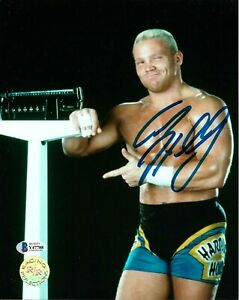 WWE CRASH HOLLY HAND SIGNED AUTOGRAPHED 8X10 PHOTO WITH BECKETT COA R/R RARE