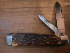 VINTAGE CAMILLUS 3 LINE CAMILLUS N.Y. JACK KNIFE WITH BONE SCALES