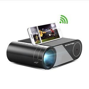 WIFI LED 3000 Lumen Lux Projector 150 inch 1080P Byintek K9 Multiscreen Version.