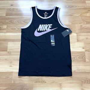Nike Icon Futura Tank Top Black Size Medium Athletic Men Training Running