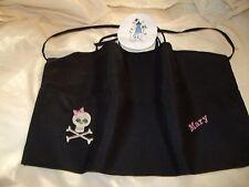 Skull Black 3 Pocket Waitress Waist Apron Lady Skulls Name FREE Lady Pizazz