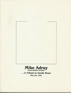 Gordie Howe May 1981 MIKE ADRAY awards testimonial roast Michigan for Mr Hockey