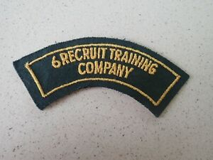 6 Recruit Training Company Australian Army - 1950s Shoulder Title Summer Cotton