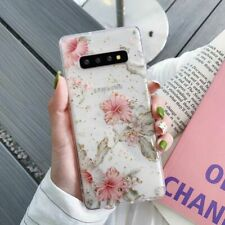 Blooming Flowers Clear Case For Samsung Spring Bling Gold Foil Colorful Floral