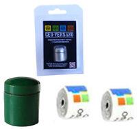 3x grüner magnetischer Nano Geocache Versteck 6 Logstreifen winzig kleiner Cache
