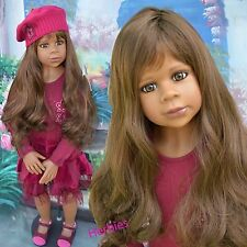 Masterpiece Dolls Gianna Burgandy Dress and Matching Shoes