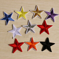 10pcs Small Star Embroidery Sew Iron On Patch Badge Clothes Applique Bag Fabric