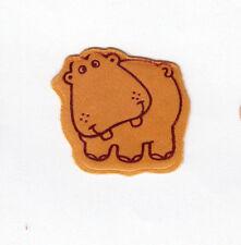 Rare Vintage Hallmark Satin Embossed Hippo Sticker