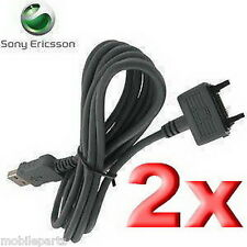 2 x Sony Ericsson USB Data Cable for Aino Zylo Jalou T650 T707 T715 V630i V640i